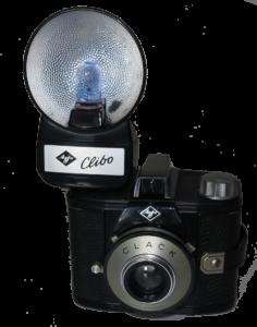 Agfa Clack med Clibo biltz