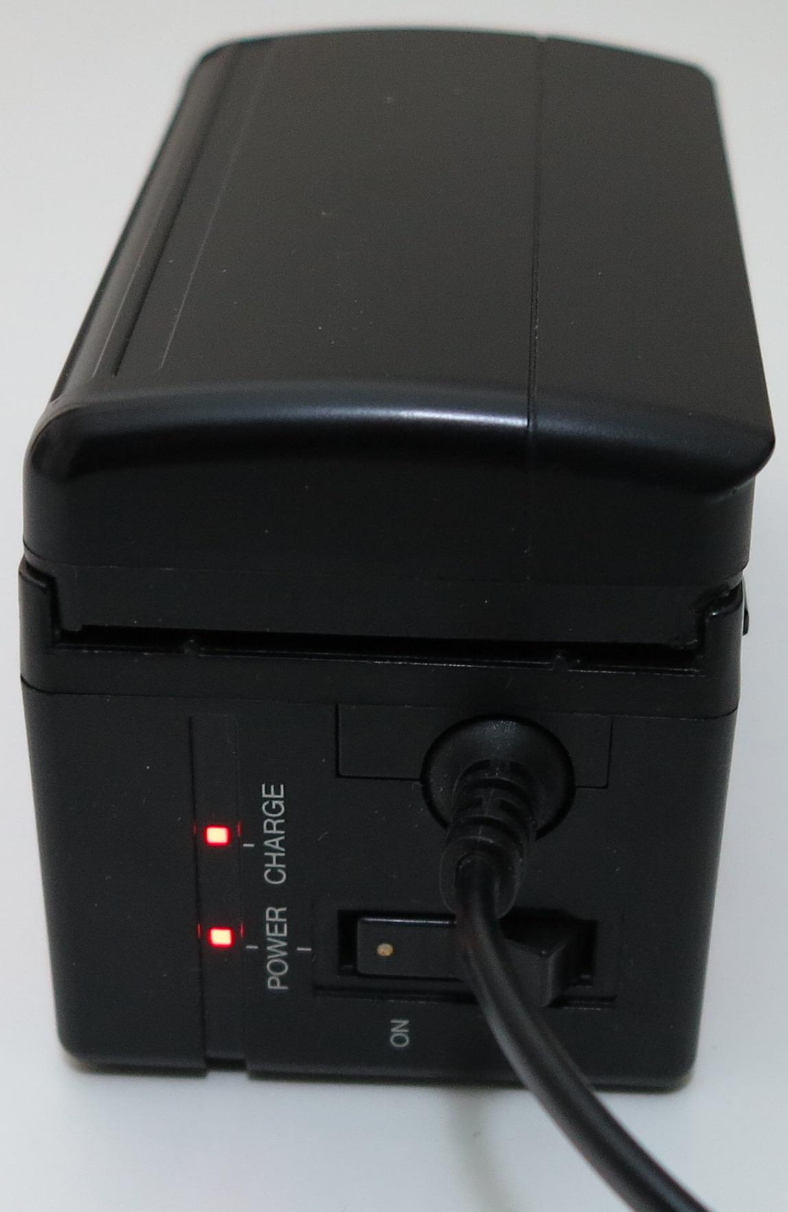 JVC GR-C1 lader med batteri