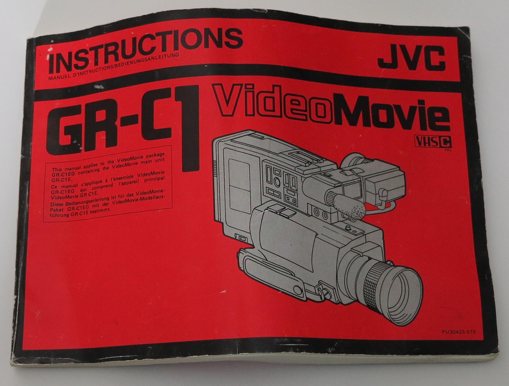 JVC GR-C1 manual